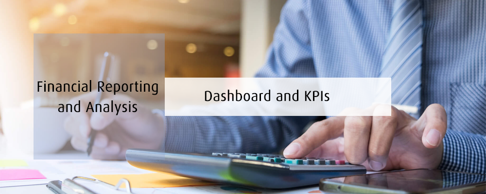 Financial Reporting and Analysis dashboard and KPIs