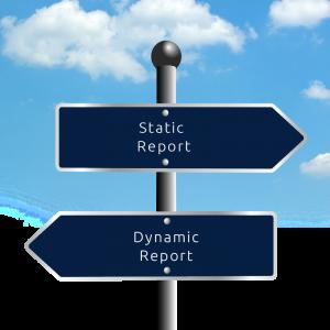 static vs dynamic report